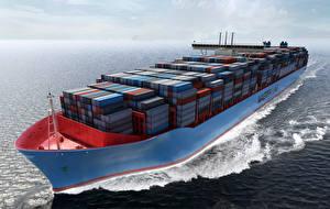 Фотография Корабли Контейнеровоз Maersk