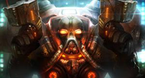 Обои StarCraft StarCraft 2 Воин Броня TamplierPainter Фэнтези