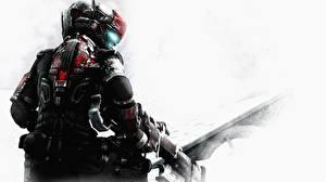 Обои Dead Space Dead Space 0 Воители Броня Шлем Спина Игры Фэнтези