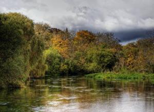 Картинки Реки Англия Itchen Hampshire Природа