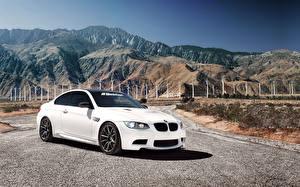 Картинки БМВ Горы Белые m3 Автомобили