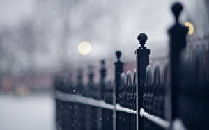 Фотографии Вблизи Зима Забор
