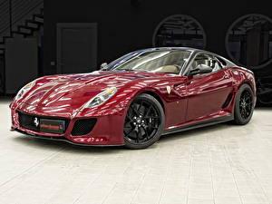 Фото Ferrari Бордовый Металлик Люксовые 2012 599 GTO( Romeo Ferraris) Автомобили