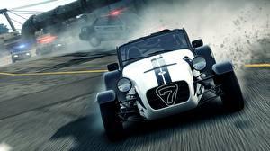 Картинки Need for Speed Need for Speed Most Wanted Лотус Caterham 7 Спереди superlight r500 3D_Графика Автомобили