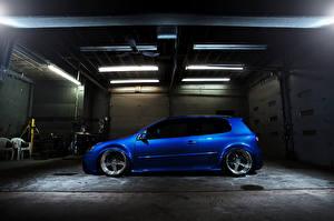 Картинки Volkswagen Синий Сбоку Машины