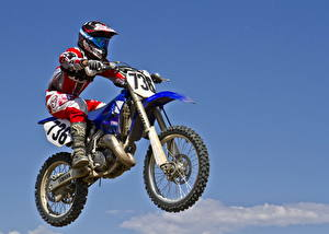 Фото Мотокросс Шлем Полет Мотоциклы Спорт