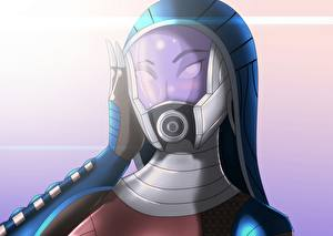 Фотографии Mass Effect Tali Zorah Шлем Фэнтези