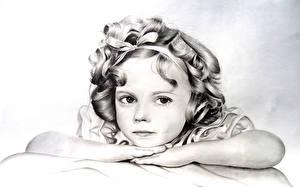 Обои Рисованные Девочки Лицо Взгляд Дети