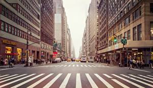 Картинки Штаты Дороги Здания Чикаго город Улица Города