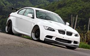 Картинка BMW Белый M3 E92 авто