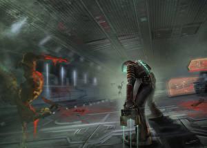 Картинка Dead Space Воины Броня Фан АРТ Фэнтези