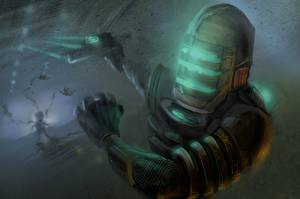 Фото Dead Space Воины Шлем Доспехи Фан АРТ Фэнтези