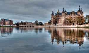 Фотографии Германия Вода Реки Гамбург HDR