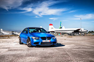 Фото BMW Небо Голубая Спереди Асфальта m3 e92 авто