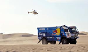 Фотографии Грузовики KAMAZ Вертолеты Спорт