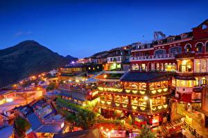 Фотографии Китай Здания Тайвань Тайбэй Ночь New Taipei