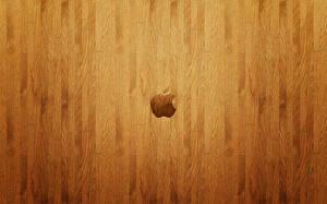 Фотография Apple Логотип эмблема Текстура Деревянный Паркет