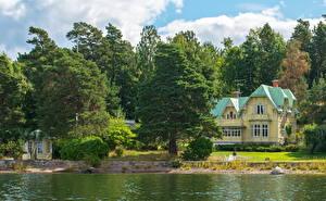 Картинки Швеция Дома Стокгольм Vаrmdо