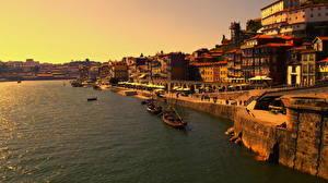 Картинка Португалия Побережье Порту Vinho do Porto Города