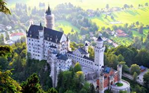 Фото Германия Замки Нойшванштайн Сверху Бавария