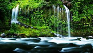 Обои Водопады США Калифорния Mossbrae Природа фото