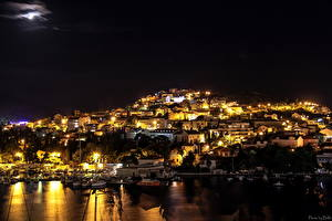 Фотографии Хорватия Здания Дубровник Ночь