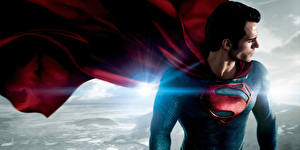 Картинка Супермен герой Мужчины Henry Cavill Плащ Man of Steel Фильмы Знаменитости