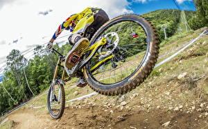 Картинка Велосипеды Прыжок Спорт