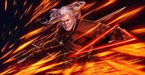 Фотографии The Witcher Ведьмак 0: Дикая Охота Воители Мужчины Фэнтези