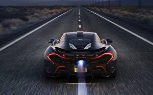 Картинка McLaren Дороги Сзади Роскошные P1 2014 Машины