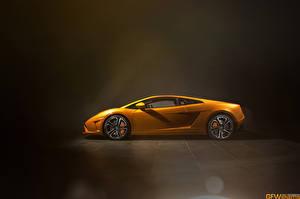 Картинки Ламборгини Оранжевых Сбоку Роскошные LP560 машины