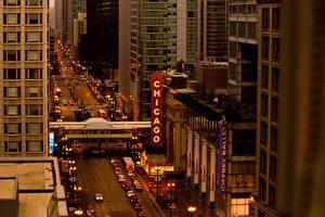 Фото США Дороги Чикаго город Улица Города