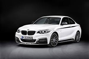Обои BMW Белые 2013 M235i машина