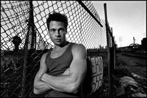 Фото Brad Pitt Мужчины Майки Забора Знаменитости