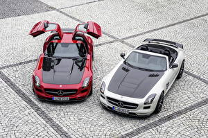 Картинки Mercedes-Benz Родстер 2013 SLS 63 AMG GT roadster