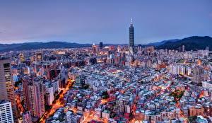 Фотография Китай Дома Тайвань Тайбэй Мегаполиса