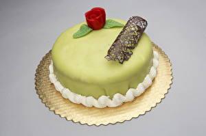 Фото Сладкая еда Торты Цветной фон Продукты питания