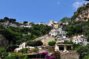 Фото Италия Здания Амальфи город