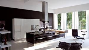 Картинки Интерьер Кухня Хай-тек стиль Дизайн