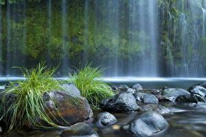 Обои Водопады Камни США Калифорния mossbrae Природа фото