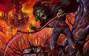 Фото Iron Maiden Монстры Коса (оружие) Фэнтези