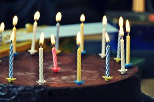 Фото День рождения Торты Шоколад Свечи