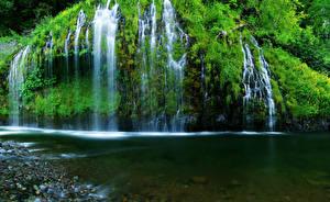 Обои Водопады Реки США Калифорния mossbrae Природа фото