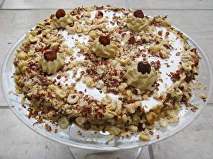 Картинка Сладости Торты Орехи Продукты питания