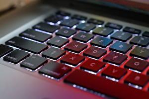 Фотографии Клавиатура Apple Крупным планом Компьютеры