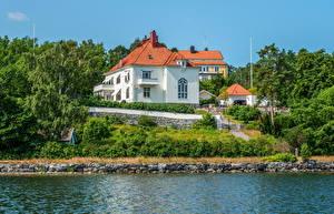 Фотография Швеция Дома Побережье Стокгольм