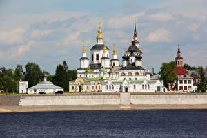 Фотография Храмы Реки Россия Великий Устюг Соборное дворище город