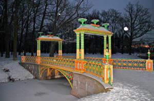 Фотография Россия Санкт-Петербург Парк Мосты Зима Снеге Пушкин (Царское село) by Andrei Antipin Природа