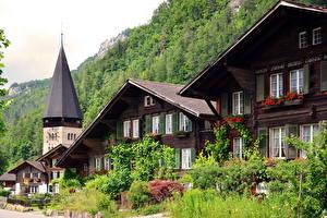 Обои Швейцария Здания Берн Кустов