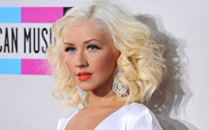 Фото Кристина Агилера Волосы Блондинка Взгляд Знаменитости Девушки